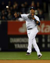 Robinson Cano #24 of the New York Yankees sends the ball to first for the out in the fourth inning against the Arizona Diamondbacks http://www.fansedge.com/Robinson-Cano-New-York-Yankees-4182013-_-1338323028_PD.html?social=pinterest_pfid77-34727