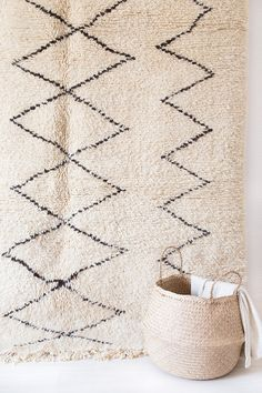 Vintage Beni Ourain Rug The Caleb Moroccan Rug by LoomAndField