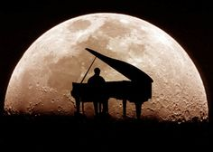 Playing piano by the pale moonlight