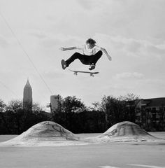 Grant Taylor Skateboarding Black and White Photography