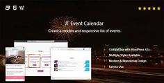 JT Event Calendar . Create modern and responsive lists with events in a few minutes with JT Event