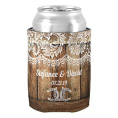 Rustic Country Wedding Can Cooler - barn wedding gifts template diy customize personalize marriage