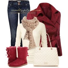 """Uggs & Knitted Scarf"" by casuality on Polyvore"