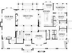 Contemporary Farmhouse Plans Awesome With Photo Of Contemporary    Floor plan i like the sun room playroom off of kitchen   a craft laundry