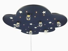 Niermann Standby LED Ceiling Lamp, Cloud with Glowing Stars, Extra-Large, Blue: Amazon.de: Küche & Haushalt