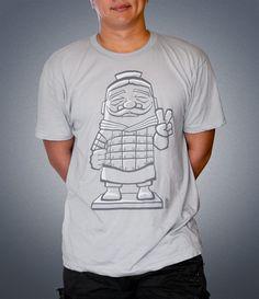 Terracotta Soldier T-Shirt #Chinese #tee #design #illustration