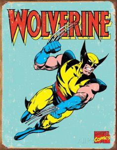 Wolverine Retro Tin Sign at AllPosters.com