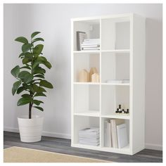 IKEA - FLYSTA, Shelf unit, Choose whether you want to place it vertically or horizontally to use it as a shelf or bench. White Shelving Unit, Ikea Shelving Unit, Kallax Shelf Unit, Ikea Shelves, White Box Shelves, Ikea Units, Modular Shelving, Shelving Systems, Open Shelving