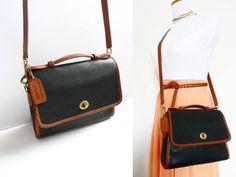 4935212c7db Vintage Coach Court Bag 9870 Spectator Black Brown by hanniandmax, $149.00  Cute Handbags, Coach