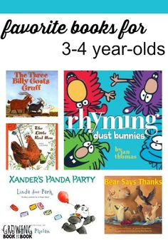 These are our favorite books for kids age 3-4. They have been read countless times in our house and are the best of the best.