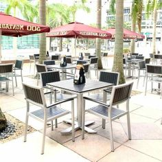 An image of a gorgeous outdoor restaurant dining space of commercial