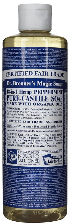 Dr. Bronner's peppermint soap- new favorite soap for the dreads