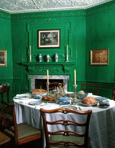Historic Colors of the Mount Vernon Estate inside the amazing home