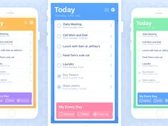 Daily UI - ToDo List ✔️ designed by Roxane. Connect with them on Dribbble; Daily Meeting, Every Tuesday, Todo List, Daily Ui, Mom And Dad, Things To Do