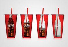 Creatieve productideeën: colabekers waarin je ziet hoe leeg je 'm hebt gedronken