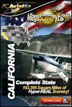 MegaSceneryEarth 2.0 California Complate State PhotoReal Scenery for FSX and P3D (Buy Online)