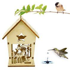 Wooden Bird Houses, Bird Houses Diy, J Dragon, Nesting Boxes, Bird Cage, Wood Colors, Types Of Wood, Birds, Outdoor Decor