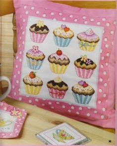 Cupcake cushion cute for Jojo's room