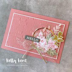 Karten Diy, Leaf Cards, Go Pink, Hand Stamped Cards, Stamping Up Cards, Crafty Projects, Flower Cards, Homemade Cards, Ferns