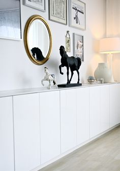 studio karin: My former home, a sideboard I built with IKEA cabinets. Side Board, Beautiful Interior Design, Interior Design Inspiration, Ikea Tv Console, Hacks Ikea, Small Apartment Interior, Ikea Kitchen Cabinets, Ikea Living Room, Buffets