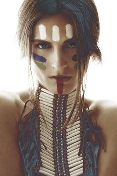 Makeup Inspiration // I really like the use of colour & tribal influence to…