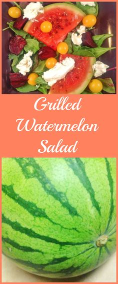 Grilled Watermelon Salad with Goat Cheese and Roasted Beets