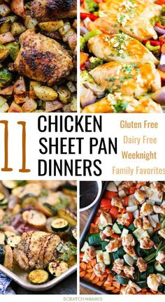 24 Amazing Gluten Free Sheet Pan Dinners Your Family Will Love - Check out these awesome chicken weeknight dinner recipes. These sheet pan meals are sure to be new - Gluten Free Recipes For Dinner, Healthy Dinner Recipes, New Recipes For Dinner, Dairy Free Recipes Chicken, Gluten Free Dinners Easy, Easy Healthy Weeknight Dinners, Gluten Dairy Free, Dairy Free Recipes Healthy, Dinner Ideas