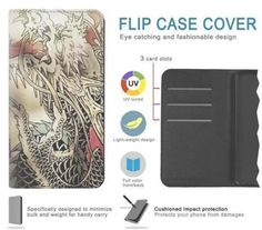Yakuza Tattoo Hard & Leather Flip Case iPhone 11 11 Pro Max Samsung Galaxy Note 10 J