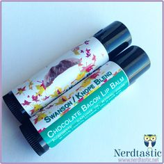 Chocolate Bacon Swanson/Knope Inspired Lip Balm Tube (Geek Makeup)