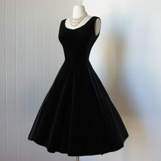 Velvet LBD with pearls