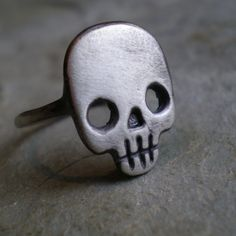 Skull Ring from axelhoney on Etsy. Shop more products from axelhoney on Etsy on Wanelo. Skull Jewelry, Gothic Jewelry, Jewelry Box, Jewelery, Jewelry Accessories, Jewelry Design, Skull Rings, Bullet Jewelry, Geek Jewelry