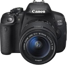 Canon EOS 700D Fotocamera Reflex Digitale, 18 Megapixel, Obiettivo EF-S 18-55mm IS STM, Nero