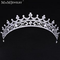 European Bride Style Rhinestone Crown Tiara Bridal Hair Jewelry Wedding Hair Accessories *** Be sure to check out this awesome product. Bridal Crown, Bridal Tiara, Wedding Hair Accessories, Jewelry Accessories, Wedding Tiara Hairstyles, Wedding Tiaras, Diamond Tiara, Rhinestone Wedding, Tiaras And Crowns
