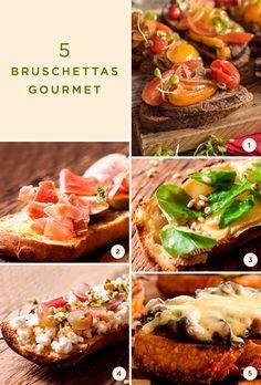 Separamos receitas deliciosas da Dedo de Moça para você receber os amigos para um festival de bruschettas gourmet no fim de semana