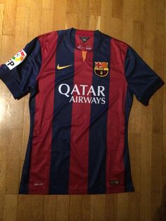 Barcelona Home football shirt 2014 Football Shirts, Football Team, Barcelona, Fitness, Tops, Soccer Jerseys, Football Jerseys, Shell Tops, Excercise