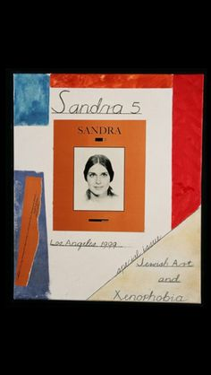 "Ronald B. Kitaj - ""Sandra 5 (A Magazine)"", 1999 - Oil and collage on canvas - 24 x 20 in. (*)"