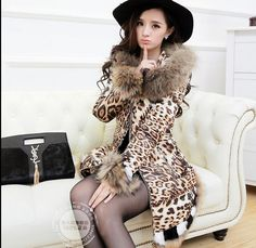 >> Click to Buy << 2016 new hot winter Thicken Warm woman Coats Parkas Outerwear Hooded Raccoon Fur collar Slim long plus size 2XXL High Leopard #Affiliate