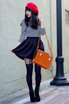 1000 images about beret outfits on pinterest berets for French striped shirt and beret