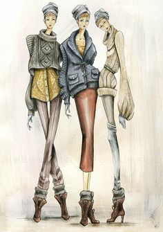 knitwear illustrations - Google Search