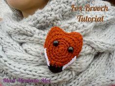 vossen broche haken - crochet fox brooch tutorial