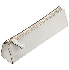 Delicate Leather Pencase (White) by Craft Design Technology.