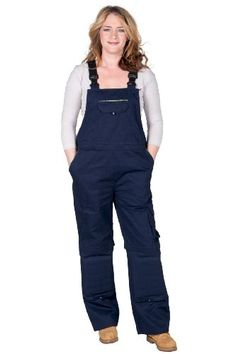 Rosies - Womens Cotton Denim Bib - Navy Blue - Ladies Work Overalls  #Rosies_Workwear #Apparel