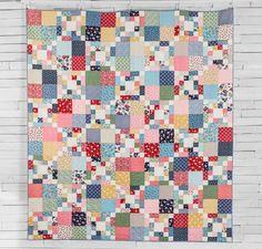 Scrappy Chain Quilt Kit by May Chappell featuring Boundless 1930's Delights Fabric