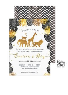 Safari Baby Shower Invitation / Boho Safari Baby Shower
