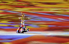 Brazilian singer Roberta Sa performs during the 2016 Rio Olympics closing ceremony. (John Macdougall / AFP / Getty Images)