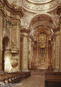 Interior of Church at the Benedictine Monastery in Melk (built 1702-36)