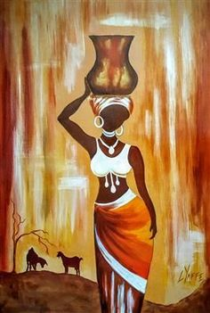Tribal Art Canvas Print / Canvas Art by Kalyani Badwaik Abstract Art Painting, African Drawings, Painting, Amazing Art Painting, Art, Painting Art Projects, African Art Paintings, Canvas Art, Africa Art
