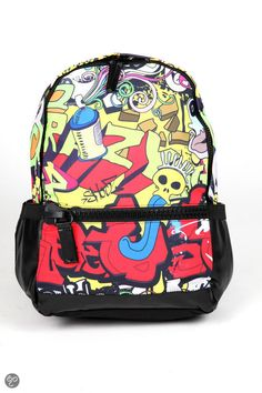 Adventure Bags Print - Rugzak - 20 l - Geel/ Rood