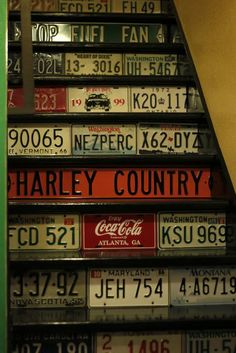 Great idea for my garage stairs.
