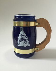 Vintage Siesta Ware Blue Mug with Great by IgnatiusGreyVintage